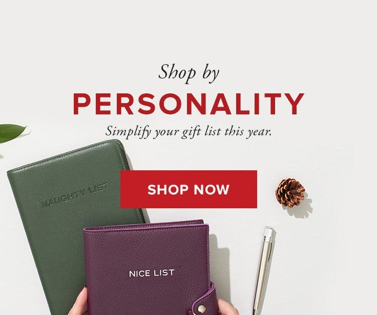 HOLIDAY GIFTS BY PERSONALITY!