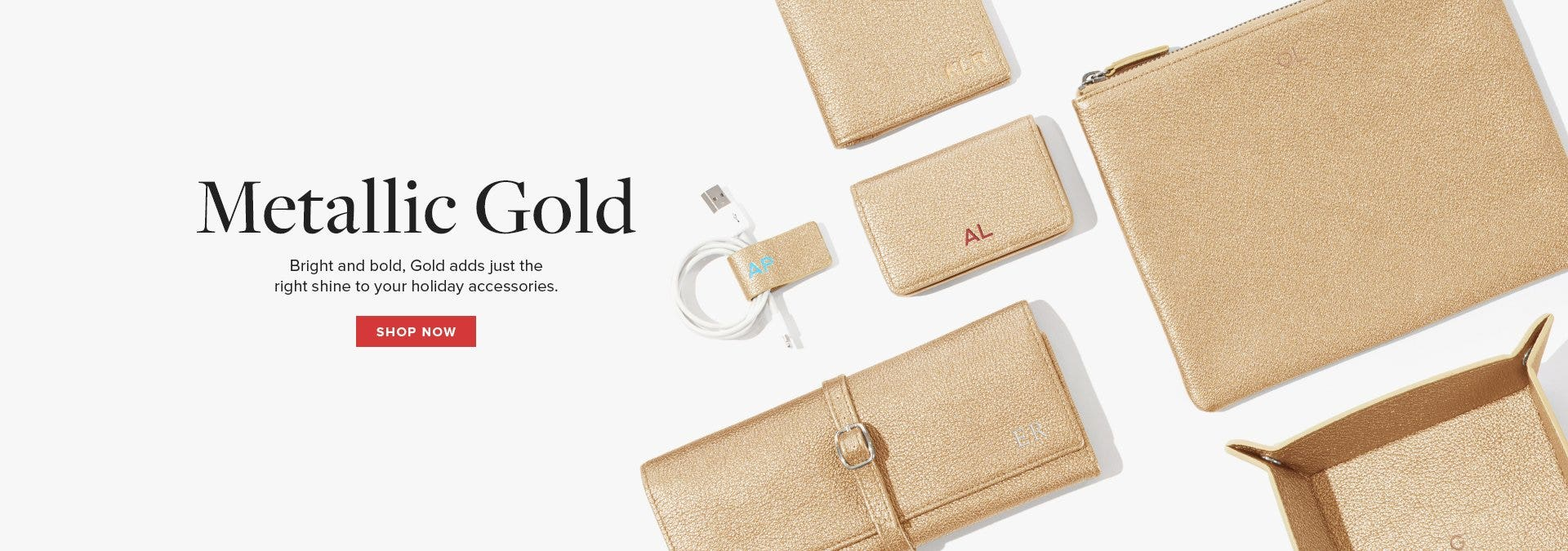Introducing Gold Italian Leather!