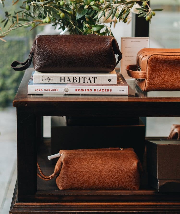 Men's Leather Toiletry Bags