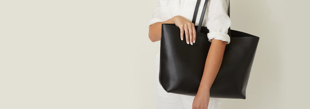 Unlined Belmont Structured Tote