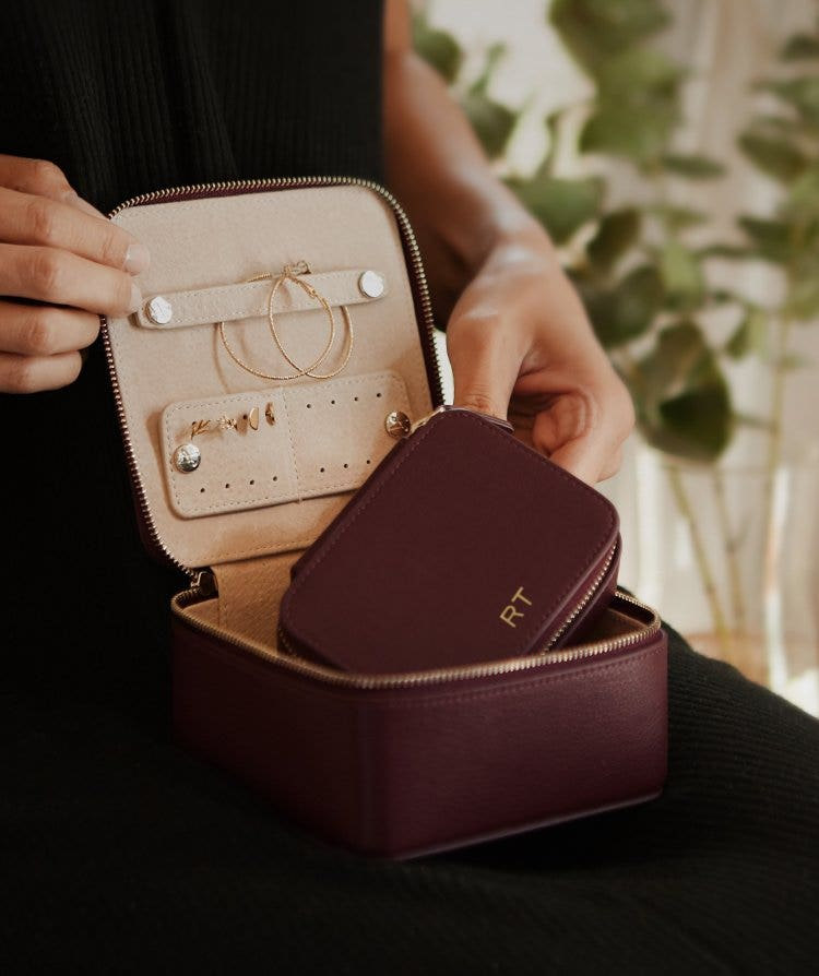 Personalized Leather Jewelry Cases