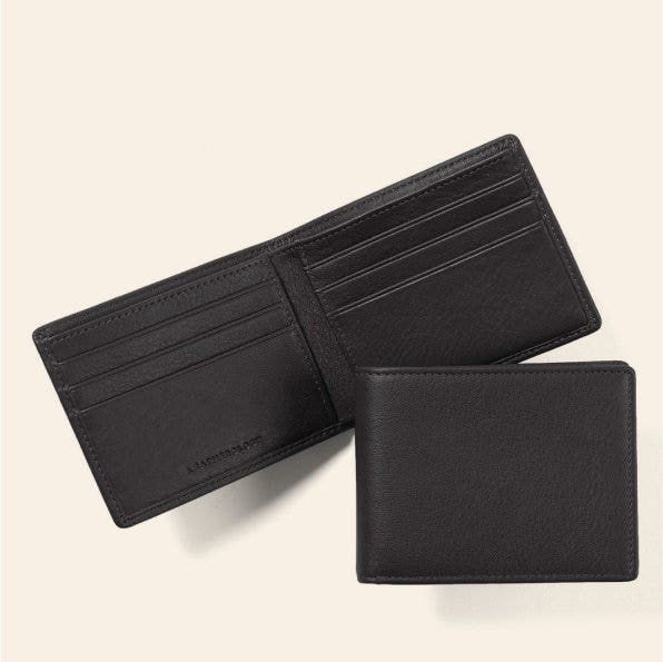 Combination Set of Two!; Whole Set!; Gift; Birthday Gift; Men/'s Wallet and Card Case; Leather; Italian Leather; Wedding