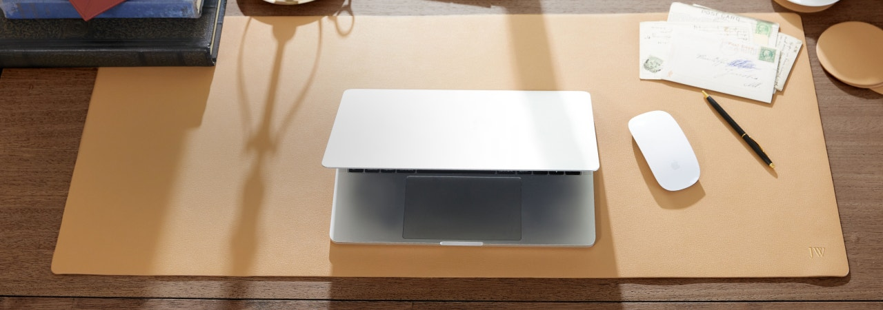 Work From Any Tight Space With New Extra Long Modern Desk Pad