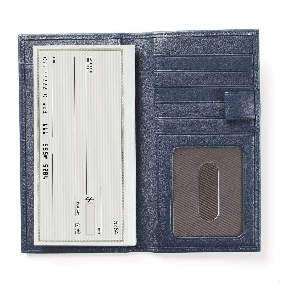 Checkbook & Card Holder with Divider