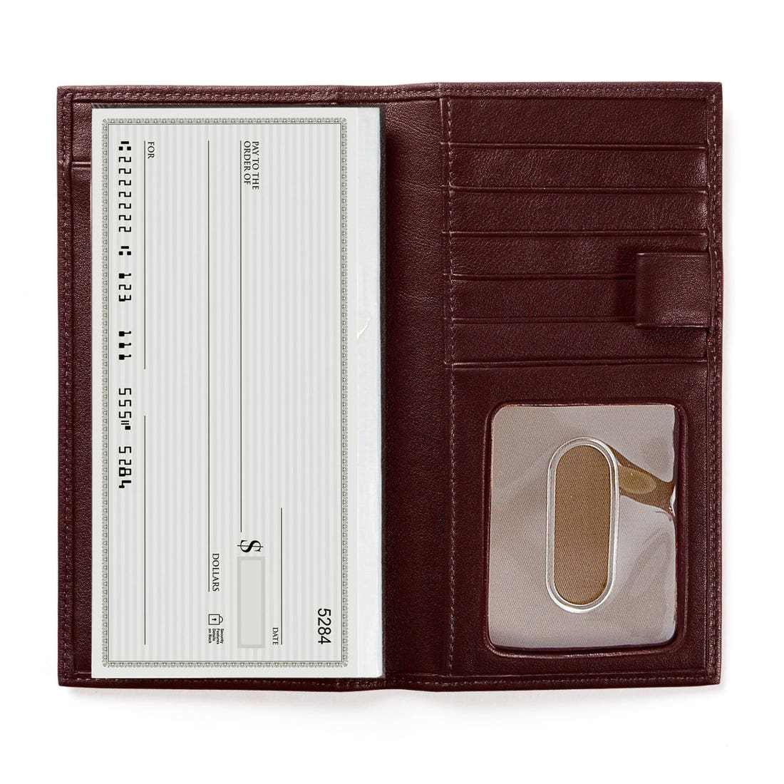 Checkbook & Card Holder with Divider