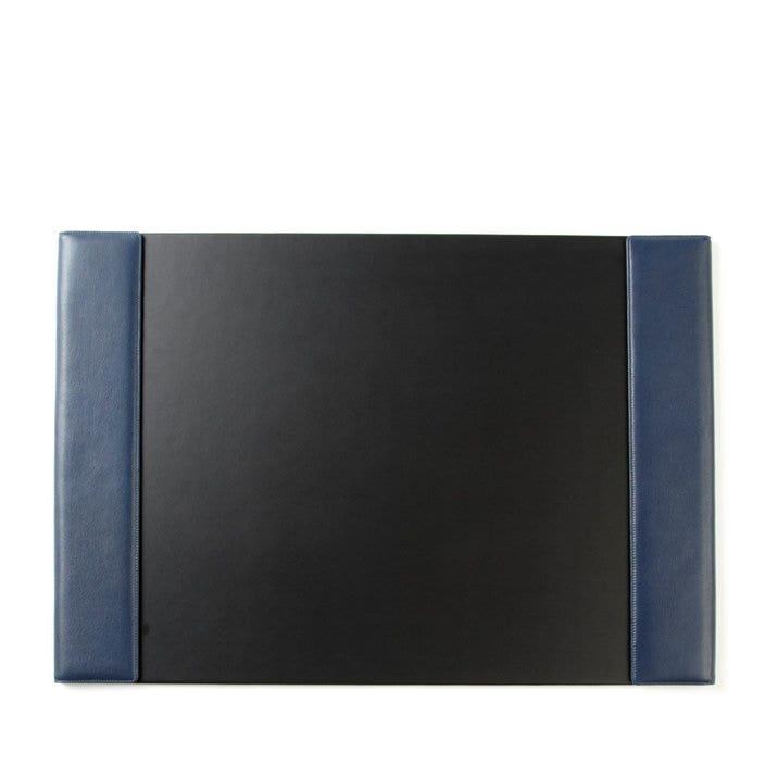 Desk Pad Full Grain Leather Navy Blue