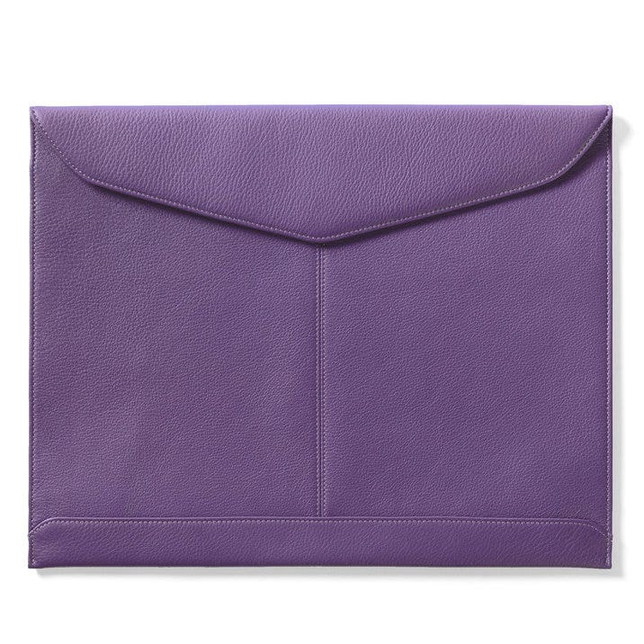 document envelope full grain leather grape purple. Black Bedroom Furniture Sets. Home Design Ideas