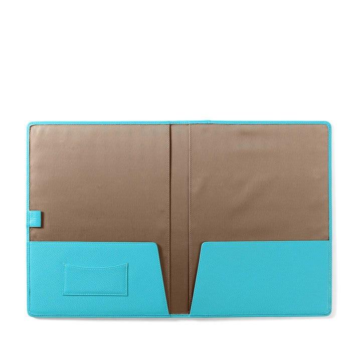 Leather Folder | Full Grain Leather Teal Blue