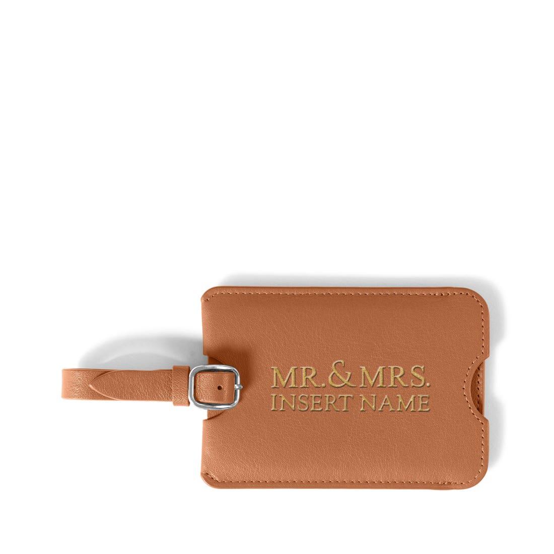 Mr & Mrs Luggage Tag