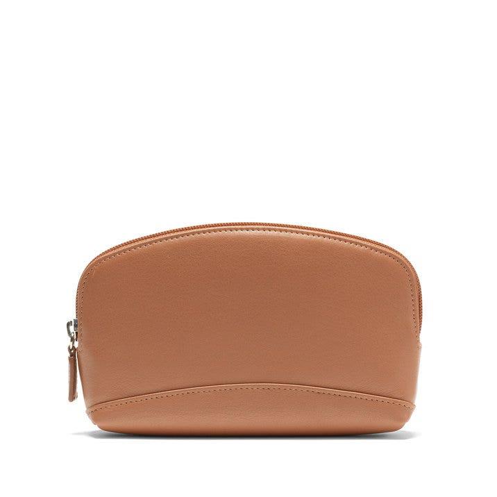 1e2db0f023db1 Small Cosmetic Bag | Full Grain Leather Cognac Tan