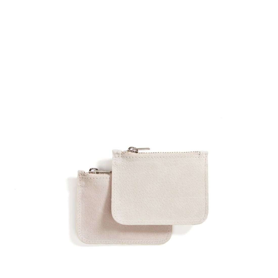 Small Pig Suede Pouches (Set of Two)