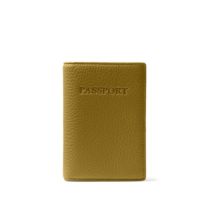 597095a652fc Standard Passport Cover   Full Grain Leather Chartreuse Green
