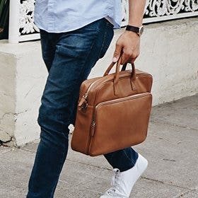 Leather Brief Bags & Laptop Bags!