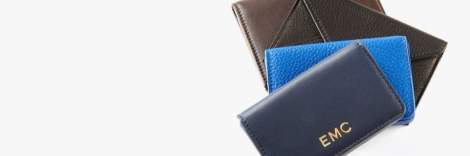 Leather business card holders cases leatherology networking is organized and purposeful with these sleek leather business card holders which double as conversation starters colourmoves
