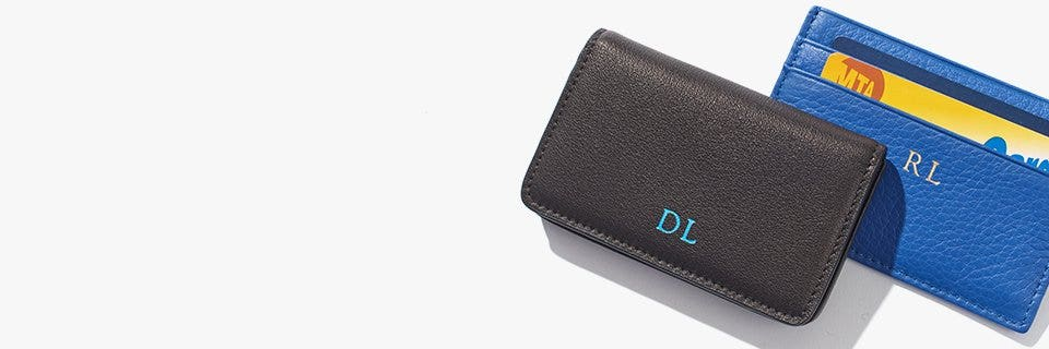 Mens business leather credit card holders leatherology from checkout lines to meetings stay efficient with these leather credit card and business card holders colourmoves Images