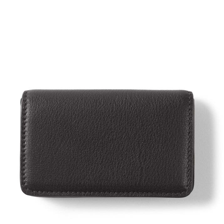 Business Card Case | Full Grain Leather Black Onyx