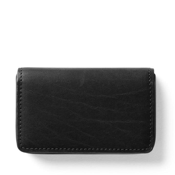 Business card case full grain german leather black oil colourmoves