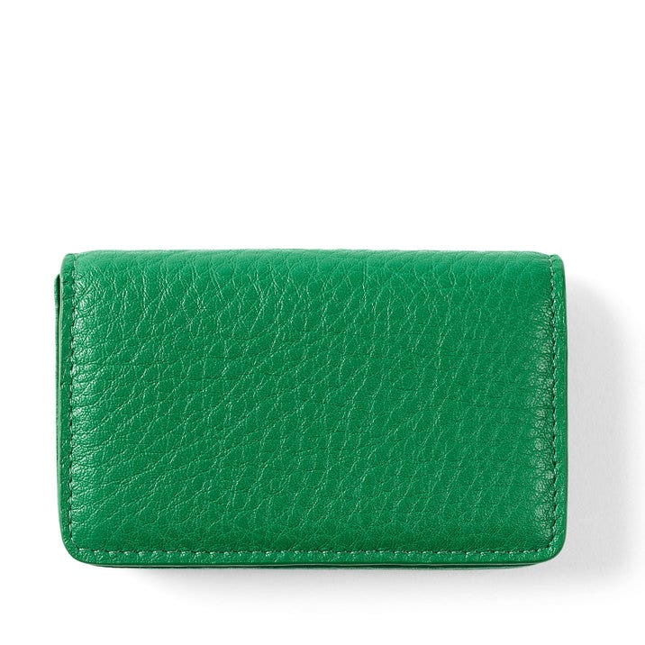 Business card case full grain leather kelly green colourmoves