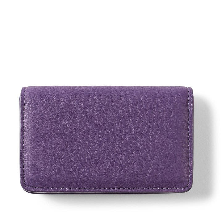 Business Card Case | Full Grain Leather Grape Purple