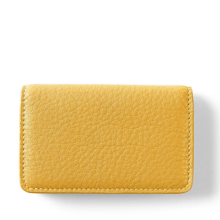 Business Card Case | Full Grain Leather Turmeric Yellow
