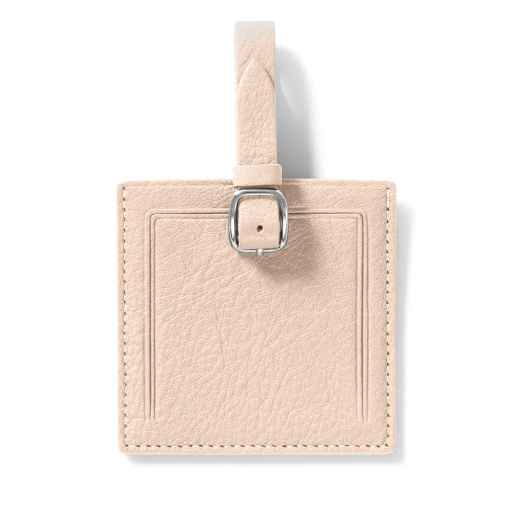 e9967c2d359e Small Square Luggage Tag | Full Grain Leather Rose Pink