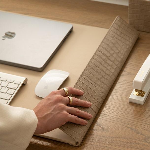 Desk Pad Full Grain Leather Cognac Tan